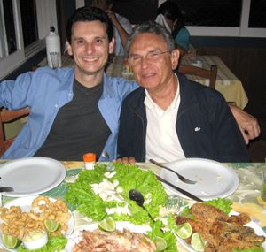 Tarquinio Teles, CEO of Hoplon Infotainment, and his father,