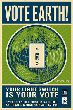 Vote Earth! by Shepard Fairey, under Creative Commons license on flickr.com