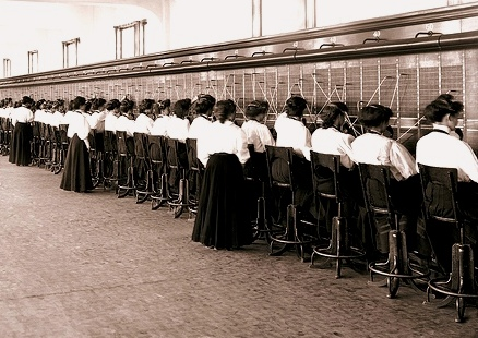 Telephone Switchboard Operators by IronRodArt (Royce Bair), under a Creative Commons license on flickr.