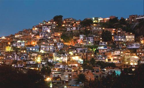 A favela in Rio de Janeiro, Brazil. Photo courtesy of JR and BasilicStudio aKkY