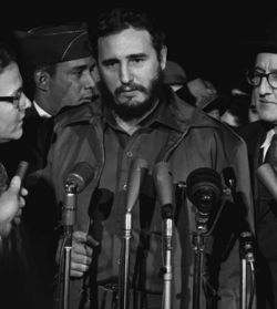 Fidel Castro in Washington D.C. in 1959. Photo courtesy of U.S. Library of Congress, on wikipedia
