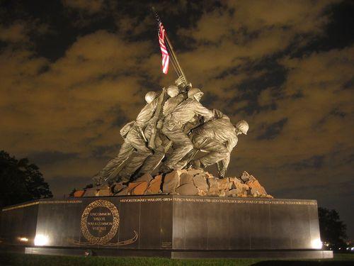 Memorial Day - USMC War Memorial by Felix de Weldon, photo by Catie Drew