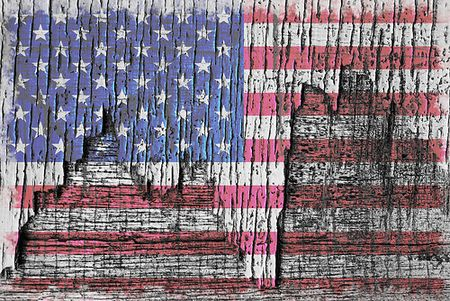 Old Glory . . . On Wood by Beverly & Pack (no real name given)