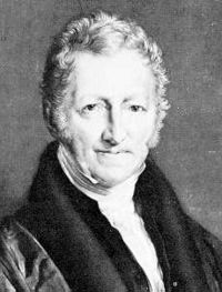 Thomas Malthus, the 19th century British economist studied by generations of college students. Photo in public domain on Wikimedia Commons