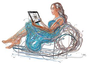 IPad woman by tsevis