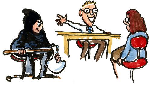 Layoffs conversation illustration