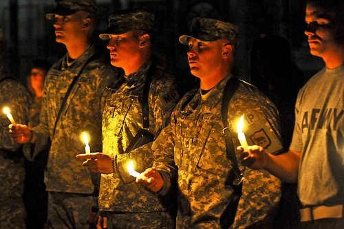 USED - U.S. Army soldiers remember Sept. 11