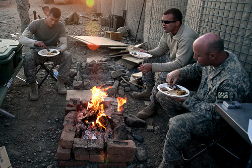 Thanksgiving - Thanksgiving on Combat Outpost Cherkatah, Khowst Province, Afghanistan by U.S. Army. jpg